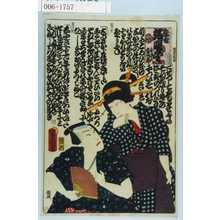 Utagawa Kunisada: 「恋合 端唄尽し 小さん 金五郎」 - Waseda University Theatre Museum