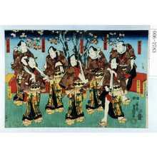 Utagawa Kunisada: 「☆子泥之助」「井筒女之助」「品川狼之助」「葛の恨之助」「尤道理之助」「山中鹿之助」 - Waseda University Theatre Museum