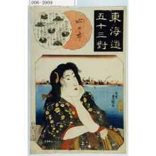 歌川国貞: 「東海道五十三対」「四日市」 - 演劇博物館デジタル