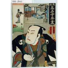 Utagawa Kunisada: 「東都高名会席尽」「由良之介」 - Waseda University Theatre Museum