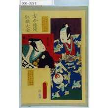 Utagawa Kunisada: 「古今俳優似顔大全」「曽我の十郎 初代坂東彦三郎」「小野の頼風 二代目彦三郎」 - Waseda University Theatre Museum