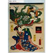 Utagawa Kunisada: 「写絵所作の内」「天人」「草かり娘」 - Waseda University Theatre Museum