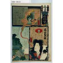 Utagawa Kunisada: 「江戸の花名勝会」「相馬の滝夜叉ひめ 尾上菊五郎」 - Waseda University Theatre Museum