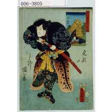 Utagawa Kunisada: 「国尽倭名誉 壱岐」「尾形の三郎惟遠」 - Waseda University Theatre Museum