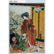Utagawa Kunisada: 「源氏六條の花」 - Waseda University Theatre Museum