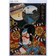 Utagawa Kunisada: 「東都高名会席尽」「狐忠信」 - Waseda University Theatre Museum