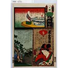 Utagawa Kunisada: 「江戸の花名勝会」「一ツ家の賎の女 尾上菊次郎」 - Waseda University Theatre Museum