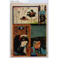 Utagawa Kunisada: 「江戸の花名勝会」「横ぐしのお富 尾上梅幸」 - Waseda University Theatre Museum