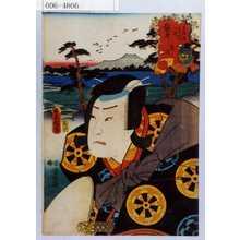 歌川国貞: 「東海道五十三次の内 袋井 忠信」 - 演劇博物館デジタル