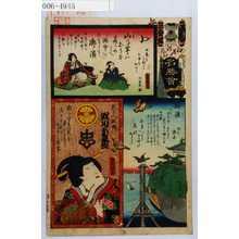 Utagawa Kunisada: 「江戸の花名勝会」「乳の人政岡 瀬川菊之丞」 - Waseda University Theatre Museum
