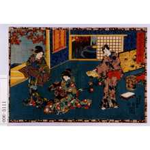 Utagawa Kunisada: 「其姿紫の写絵 十九」 - Waseda University Theatre Museum