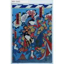 Utagawa Kunisada: 「皆鶴姫 沢村田之助」「下部寅蔵 市村羽左衛門」 - Waseda University Theatre Museum