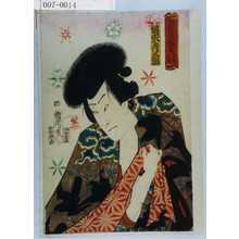 Toyohara Kunichika: 「俳優白浪当立者 雲☆仁左衛門」「坂東彦三郎」 - Waseda University Theatre Museum