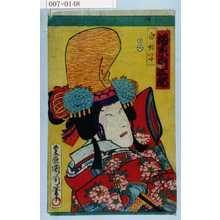 Toyohara Kunichika: 「白拍子 坂東彦三郎」 - Waseda University Theatre Museum