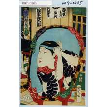 Toyohara Kunichika: 「花盛楽屋姿見」「坂東三津五郎」 - Waseda University Theatre Museum