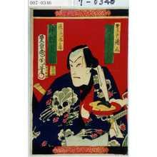 Toyohara Kunichika: 「野さらし語介 尾上菊五郎」「法花甚兵衛 中村芝翫」 - Waseda University Theatre Museum