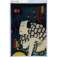 Toyohara Kunichika: 「宝☆の紫扇 河原崎権十郎」 - Waseda University Theatre Museum