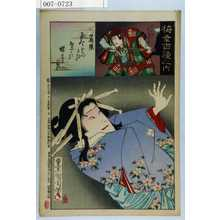 Toyohara Kunichika: 「梅幸百種之内」「墨染」「関兵衛 市川団十郎」 - Waseda University Theatre Museum