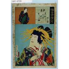 Toyohara Kunichika: 「梅幸百種之内」「夕霧」「藤屋伊左衛門 故 中村宗十郎」 - Waseda University Theatre Museum