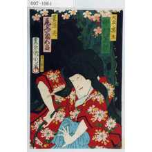 Toyohara Kunichika: 「大友ノ黒主 中村芝翫」「墨染霊 尾上菊五郎」 - Waseda University Theatre Museum