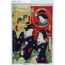 Toyohara Kunichika: 「キンニヨス実ハ古今 沢村田之助」「小今」「小春」「大駒」 - Waseda University Theatre Museum
