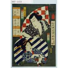 Toyohara Kunichika: 「女夫源氏二十余帖 ☆」「小猿七之助 河原崎権十郎」「猿若街小花」 - Waseda University Theatre Museum