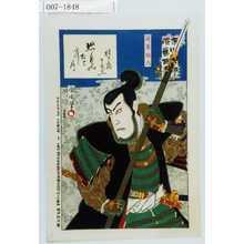Toyohara Kunichika: 「市川団十郎演芸百番」「蓮葉与六」 - Waseda University Theatre Museum