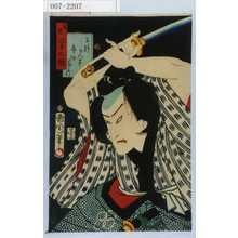 Toyohara Kunichika: 「善悪三十二鏡」「早野かん平 市村家きつ」 - Waseda University Theatre Museum