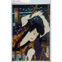 Toyohara Kunichika: 「月雪花一眼千金 よし原のさくら」「雲きり仁左衛門 沢村訥升」 - Waseda University Theatre Museum