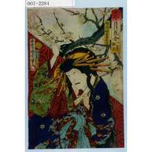 Toyohara Kunichika: 「十二ヶ月花合 一月 梅花」「梅ヶ枝 助高屋高助」 - Waseda University Theatre Museum