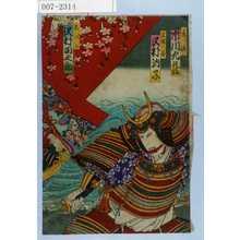 Toyohara Kunichika: 「景清 市川九蔵」「三保ノ谷 沢村訥子」「しづか 沢村田之助」 - Waseda University Theatre Museum