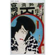 Toyohara Kunichika: 「当世形俗衣揃」「清水ノ義高 市川左団次」 - Waseda University Theatre Museum