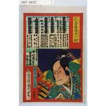 Toyohara Kunichika: 「花舞俳優年代記」「蓮葉与六正員」 - Waseda University Theatre Museum