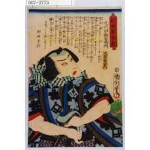 Toyohara Kunichika: 「近世東侠客」「千代田勘右衛門」「大谷友右衛門」 - Waseda University Theatre Museum