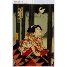 Toyohara Kunichika: 「虎蔵実ハ牛若丸 市川米蔵」 - Waseda University Theatre Museum