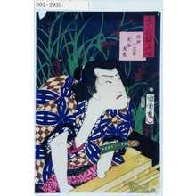 Toyohara Kunichika: 「三十六花艸の内 葭芦」「犬田小文吾 大谷友松」 - Waseda University Theatre Museum
