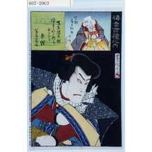 Toyohara Kunichika: 「梅幸百種之内」「天竺徳兵衛」「宗観 尾上松助」 - Waseda University Theatre Museum