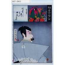 Toyohara Kunichika: 「梅幸百種之内」「仁木弾正」「荒獅子男之助 市川団十郎」 - Waseda University Theatre Museum