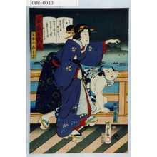 Utagawa Kunisada II: 「当世五歌妓」「金春のこま吉」「船頭しか蔵」 - Waseda University Theatre Museum