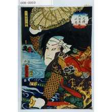二代歌川国貞: 「八犬伝犬の草紙の内」「十條力二郎」 - 演劇博物館デジタル