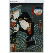 Utagawa Kunisada II: 「八犬伝犬のさうしの内」「大輔の母こあき」 - Waseda University Theatre Museum