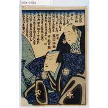 Ochiai Yoshiiku: 「三芝居舞台開 口上」「作者 桜田治助」「中村芝翫」 - Waseda University Theatre Museum