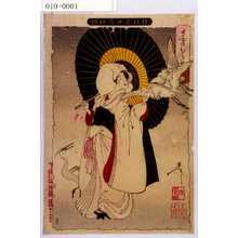 Tsukioka Yoshitoshi: 「新形三十六怪撰」「さぎむすめ」 - Waseda University Theatre Museum