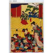 Toyohara Chikanobu: 「青山仮皇居御能ノ図」「静」 - Waseda University Theatre Museum