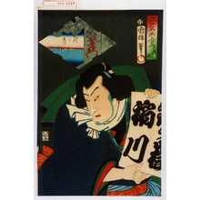 Utagawa Kuniteru: 「江戸名所合の内 十 鉄ヶ嶽」 - Waseda University Theatre Museum
