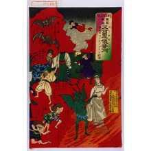 Utagawa Kunitoshi: 「BLACKART 世界無比 不可思儀奇術 米国ウヲッシ、ノアトン社中」 - Waseda University Theatre Museum