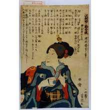 芳宗: 「沢村田之助全快」「疱瘡養生の事」 - Waseda University Theatre Museum
