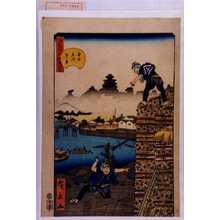 Utagawa Hirokage: 「江戸名所道戯尽 三十七」「本所立川☆景」 - Waseda University Theatre Museum