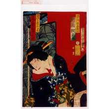 Morikawa Chikashige: 「勝間源五兵衛 片岡我童」「さくら屋小万 尾上多賀之丞」 - Waseda University Theatre Museum