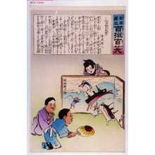 Kobayashi Kiyochika: 「日本万歳 百撰百笑」「討清の翫弄物遊び 骨皮道人」 - Waseda University Theatre Museum